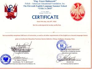 diploma Colca 2014